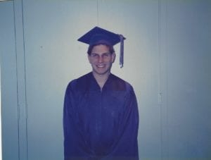 Stefan at high school graduation